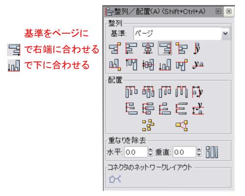 オブジェクトを整列/配置