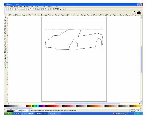 ぺジェツールで大体の形を描く