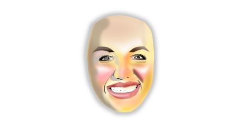 人の顔を描く