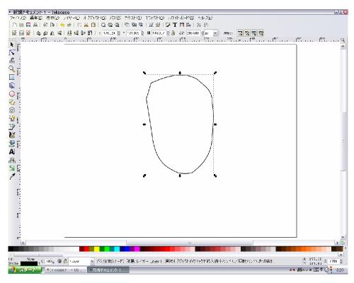 ぺジェツールで輪郭を描く