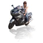 inkscape作成例、反射する写真